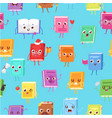 cute kawaii books seamless pattern for back to vector image