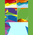 different background design with colorful shapes vector image