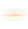 dna spiral spectral halftone grid vector image