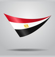 egyptian flag background vector image vector image