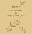 elegant merry christmas card with gold pattens vector image vector image