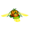 fairy house in form of ripe pumpkin with glowing vector image vector image