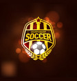 football soccer championship logo design template vector image vector image
