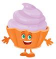 funny character muffin isolated object on a white vector image vector image