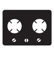 Gas stove icon on white background flat style