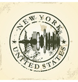 Grunge rubber stamp with New York USA vector image vector image