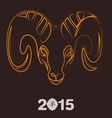 Holidays New Year of the Goat 2015 vector image