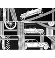 horizontal banners old vintage car vector image