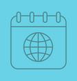 international calendar linear icon vector image vector image