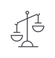 justice sign line icon sign vector image