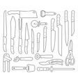 Knifes Outlines icons vector image vector image