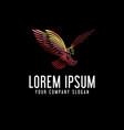 luxury bird logo design concept template vector image vector image