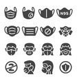 mask icon set vector image