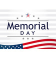 memorial day light stripes vector image vector image