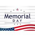 memorial day light stripes vector image