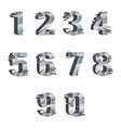 metall cracked breaking pieces 3d realistic digits vector image vector image