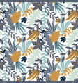 modern seamless pattern with leaves and floral vector image