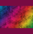 multicolor hexagon futuristic business overlay vector image vector image