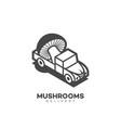 mushrooms delivery logo vector image vector image