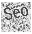 Natural Search Engine Optimization King of Organic vector image vector image
