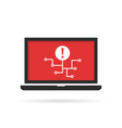 notebook with cyber attack and virus spread vector image