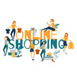 online shopping banner concept landing page vector image vector image