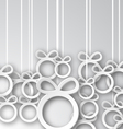 Paper Christmas Balls vector image