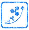 ripple inflation trend framed stamp vector image vector image