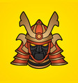 samurai mask samurai helmet head weapon vector image