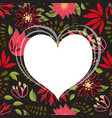 seamless pattern with floral romantic elements vector image vector image