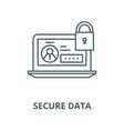 secure data line icon linear concept vector image vector image