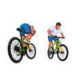 set detailed bicycle rider vector image vector image