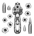 set of bullet holes vector image vector image