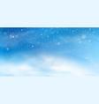 snow winter background christmas landscape vector image