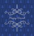 stylish card of diwali vector image vector image