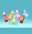 summer drinks vector image vector image
