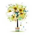 summer tree vector image vector image