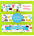 Summer Vacation and Summer Time Template Banners vector image