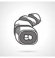 Sushi black line icon vector image