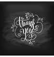 Thank you on chalkboard vector image