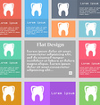 Tooth icon sign Set of multicolored buttons with vector image
