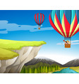 travel by hot air balloon vector image
