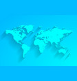 turquoise world map background vector image vector image