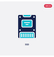 two color ssd icon from electronic devices vector image vector image
