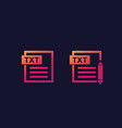 txt document edit txt file icons vector image vector image