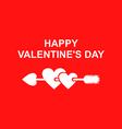 valentine arrow vector image vector image