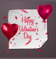 valentines day greeting card with realistic vector image