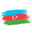 vintage azerbaijan flag vector image vector image