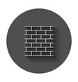 wall brick icon in line style wall symbol with vector image
