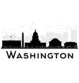 Washington DC City skyline vector image vector image